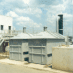 Biofilterinstallatie voor geurbehandeling