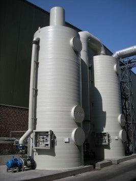 Luchtwassers oliefabriek