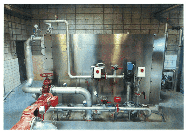 Sludge/water heat exchangers