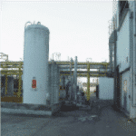 Air scrubber for solvent separation