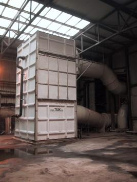 Biofilter with humidification