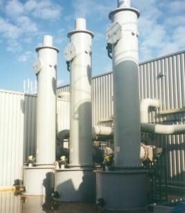 HCI gas scrubbers