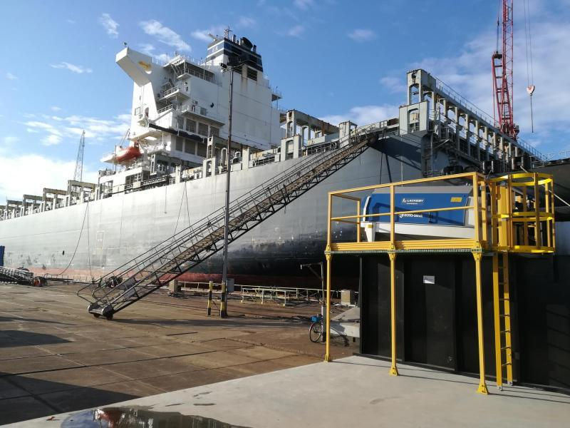 Roto-Sieve shipyard project