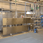 Heat exchanger space saving