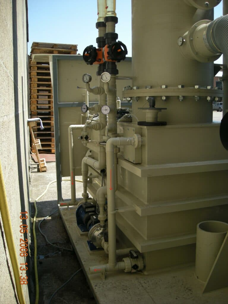 Test gas scrubber